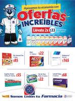 Ofertas de Farmacias Unión, Apoyamos tu economía con oferta$ increíbles