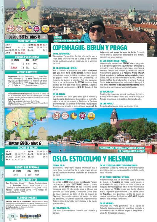 Ofertas de Europamundo, Europa Nórdica