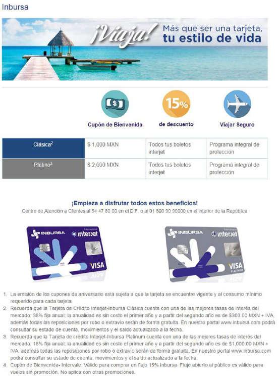 Ofertas de Interjet, Interjet Inbursa