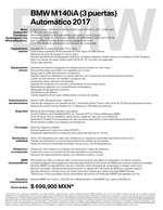 Ofertas de BMW, Ficha Técnica BMW M140iA (3 puertas) Automático 2017