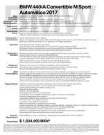Ofertas de BMW, Ficha Técnica BMW 440iA Convertible M Sport Automático 2017