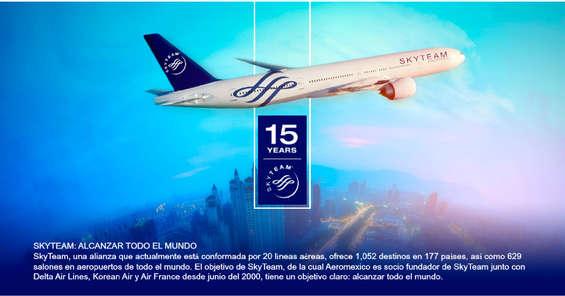 Ofertas de Aeromexico, Socio Skyteam