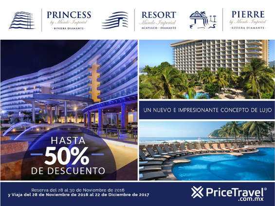 Ofertas de Price Travel, Hasta 50% de descuento