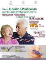 Ofertas de SUPERISSSTE, Descuento a jubilados o pensionados