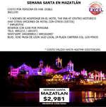 Ofertas de Excel Tours, Viaja a Mazatlán en Semana Santa