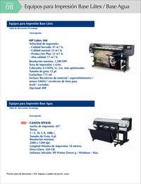 Materiales en rollo para impresión digital en plotters