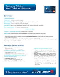 Tarjeta de crédito martí clásica