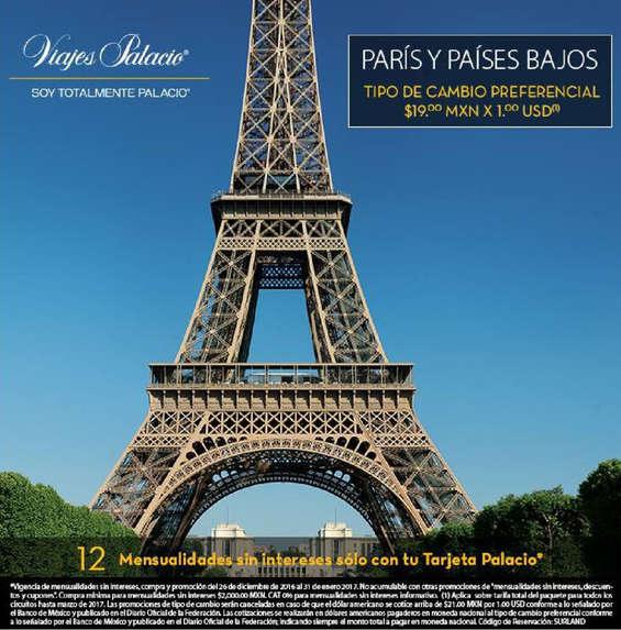 Ofertas de Viajes Palacio, París y Paises Bajos con Viajes palacio