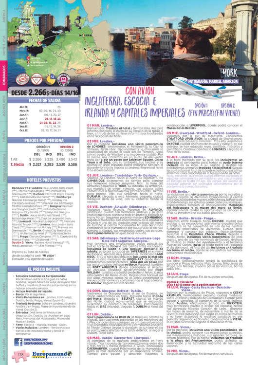Ofertas de Euromundo, Circuitos Combinados 2017