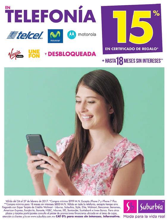 Ofertas de Suburbia, 15% En certificado de regalo en telefonía