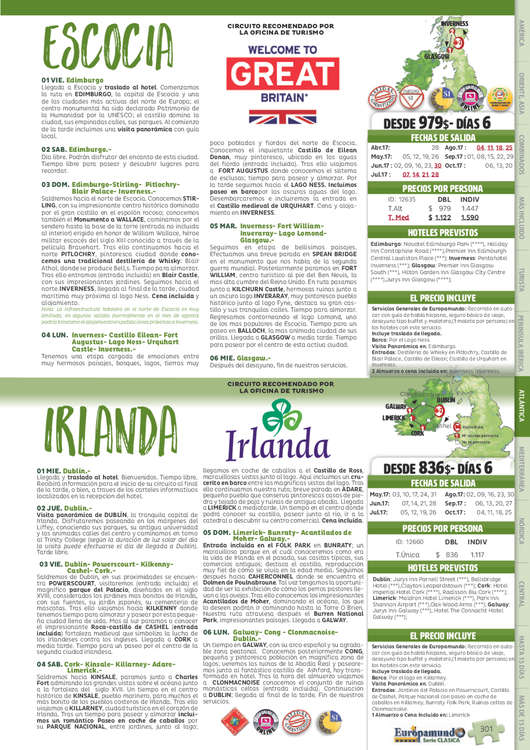 Ofertas de Euromundo, Europa Atlántica 2017
