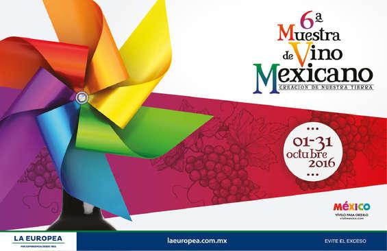 Ofertas de La Europea, 6A Muestra de Vino Mexicano