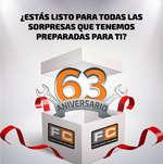 Ofertas de Ferreterías Calzada, 63 Aniversario