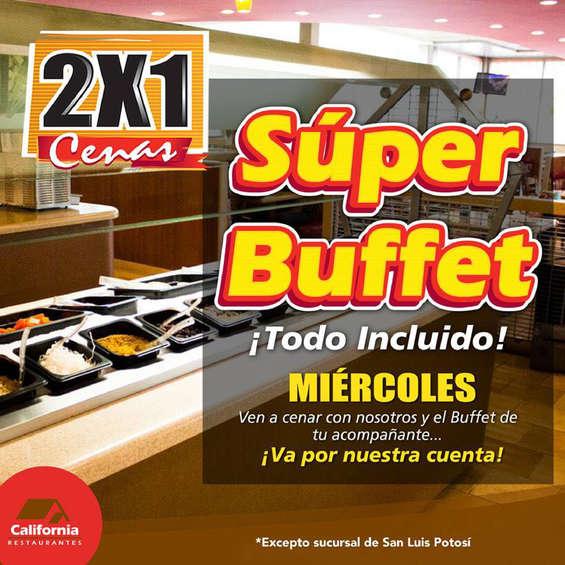 Ofertas de Restaurante California, Super miércoles