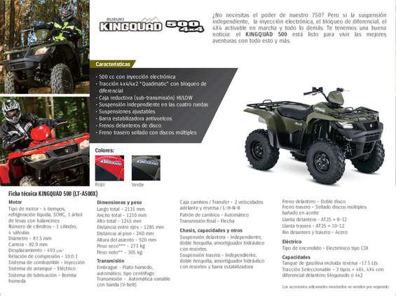 Ofertas de Suzuki Motos, KINGQUAD 500 4x4