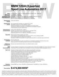 Ficha Técnica BMW 120iA (3 puertas) Sport Line Automático 2017