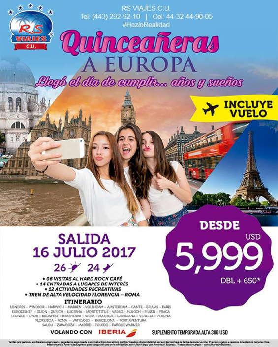Ofertas de RS Viajes, Quinceañera