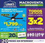 Ofertas de Lowes, Macroventa ventilación