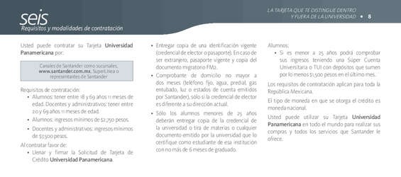 Ofertas de Santander, Folleto Informativo UP