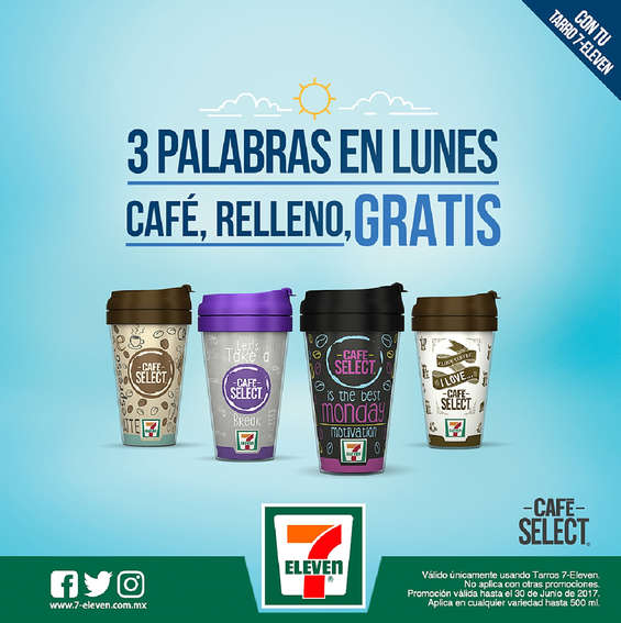 Ofertas de 7-Eleven, Café, Relleno, Gratis