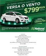 Ofertas de National Car Rental, Versa o Vento