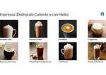 Ofertas de Starbucks, Bebidas