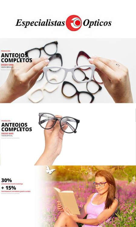 Ofertas de Especialistas Ópticos, Promos Marzo
