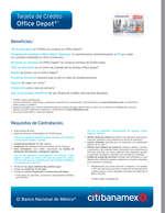 Ofertas de Citibanamex, Tarjeta de crédito office depot