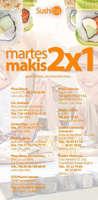 Ofertas de Sushitai, Martes Makis 2x1