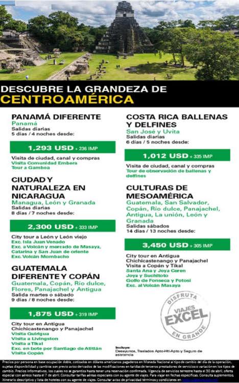 Ofertas de Excel Tours, Centroamérica