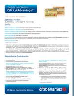 Ofertas de Citibanamex, Tarjeta de crédito citi / aadvantage