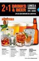 Ofertas de Hooters, 2x1 Drinks & Beer La Rosa y Forum Buenavista