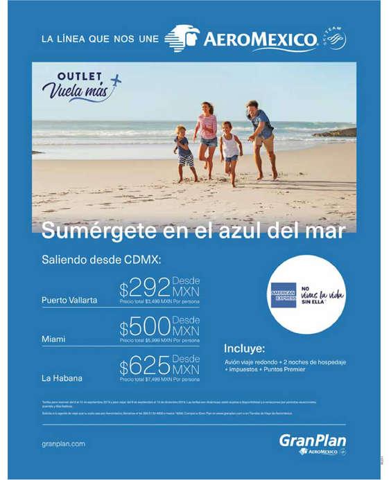 Ofertas de Aeromexico, Outlet vuela más