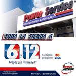 Ofertas de Power Service, 6 y 12 meses sin intereses