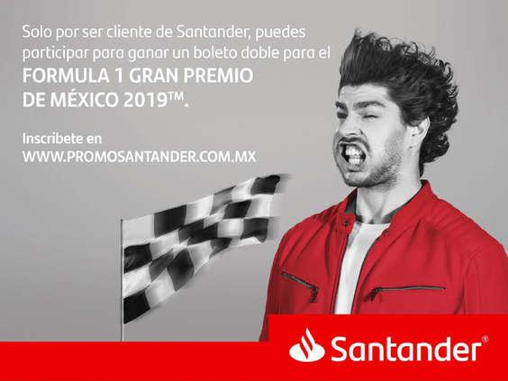 Ofertas de Santander, Promo Fórmula 1