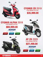 Ofertas de Yamaha, Yamaha Scooters