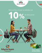 Ofertas de Banco Azteca, 10% de descuento en Glora Jean's Coffee