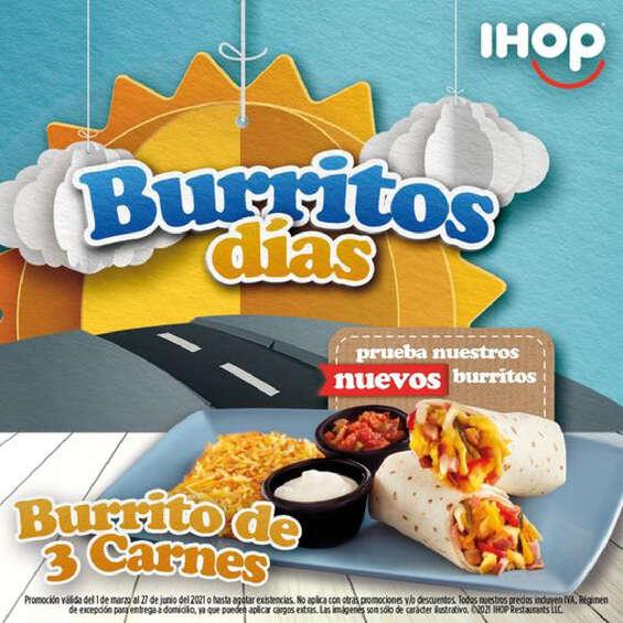 Ofertas de Ihop, Burritos días