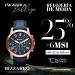 Ofertas de JOYERÍAS BIZZARRO, -25% + 6MSI en relojería de moda