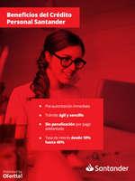 Ofertas de Santander, Beneficios del Crédito Personal Santander