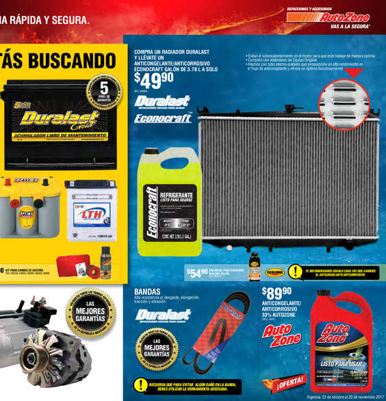 Ofertas de AutoZone, BUEN FIN