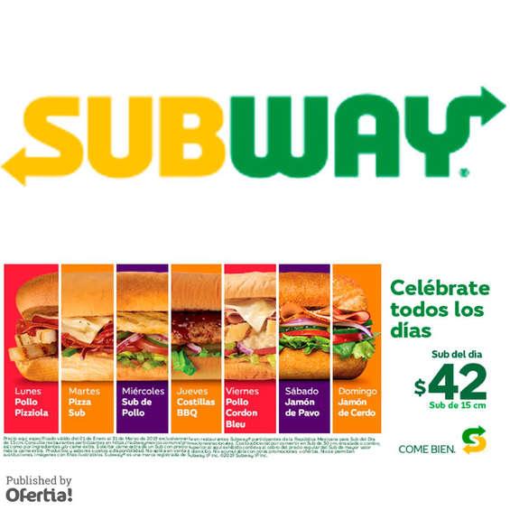 Ofertas de Subway, subway del dia