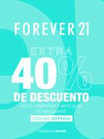 Ofertas de Forever 21, Extra 40% de descuento