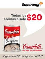 Ofertas de Campbell's, Todas las cremas a sólo $20.00