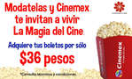 Ofertas de Modatelas, Modatelas y Cinemex te invitan