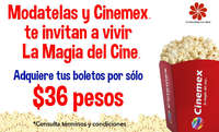Modatelas y Cinemex te invitan