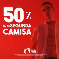 50% en tu segunda camisa