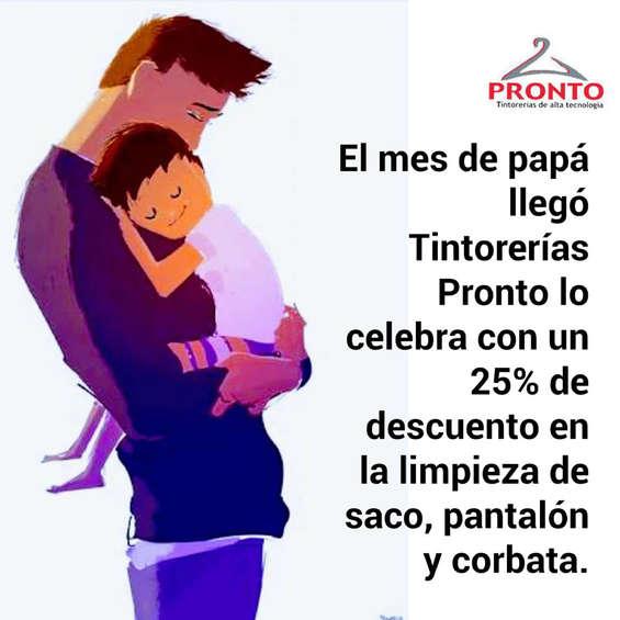 Ofertas de Tintorerías Pronto, Promo papá
