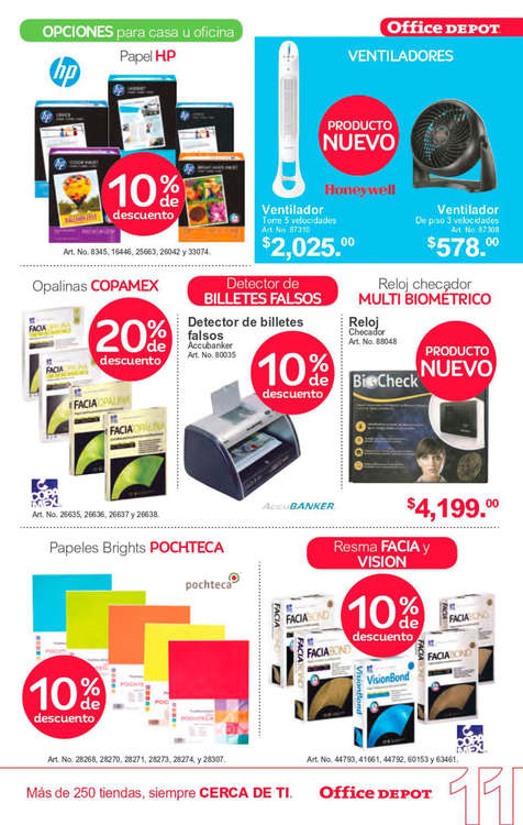 Ofertas de Office Depot, Folleto Abril