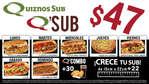 Ofertas de Quiznos Sub, Promociones Sub